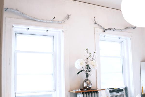 DIY: Use A Branch As A Curtain Rod Do-It-Yourself Ideas Wood & Organic