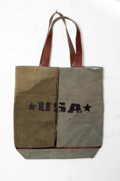 Recycled Vintage Canvas Bags Accessories