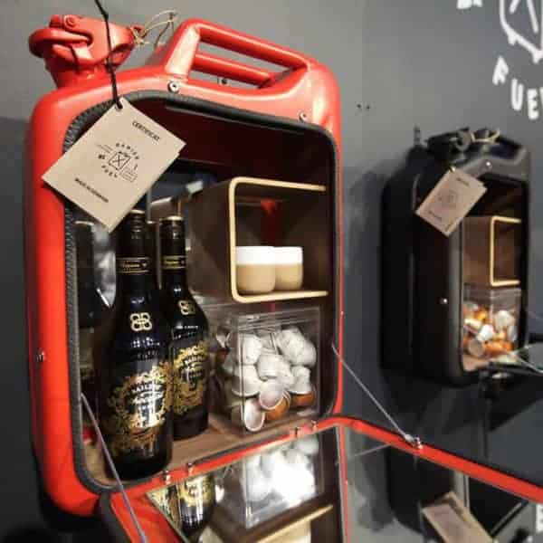 Cabinets Made Out Of Recycled Jerry Can by Danish Fuel Recycled Furniture