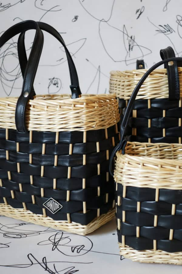 Never Seen Wickerwork From Recycled Inner Tubes Accessories Recycled Rubber