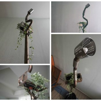 Standing Lamp Planter … From Volkswagen Car Scraps