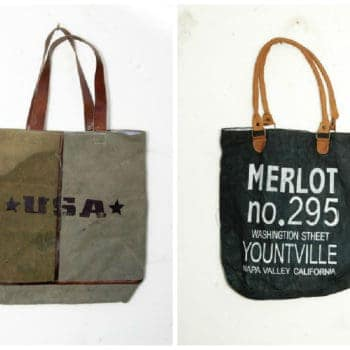 Recycled Vintage Canvas Bags