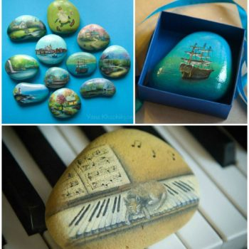 Oil Paintings on Stones by Yana Khachikyan