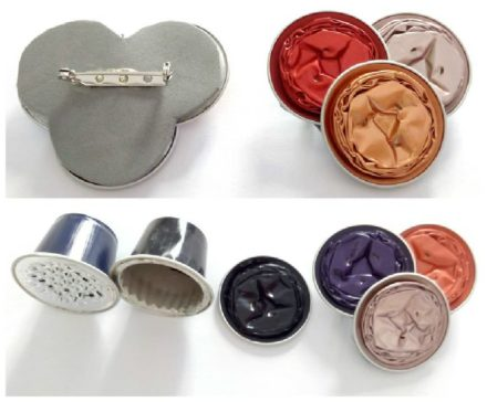Broches Con Cápsulas de Café / Upcycled Nespresso Caps Into Brooches
