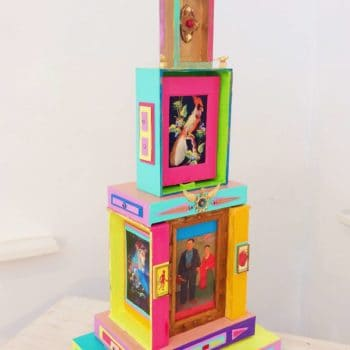 Big Cathedral Art Piece from Cigar Boxes