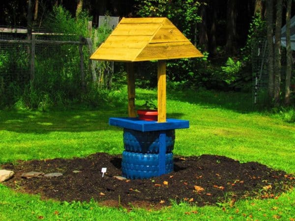 Vieux Pneus Recyclés / Recycled Tires Garden Projects Garden Ideas Recycled Rubber