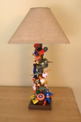 Creative Lamps Made Out Of Old Toys Lamps & Lights