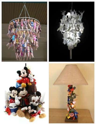 Creative Lamps Made Out Of Old Toys