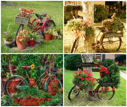 14 Creative Ideas Of Garden Decorations Made From Upcycled Bikes