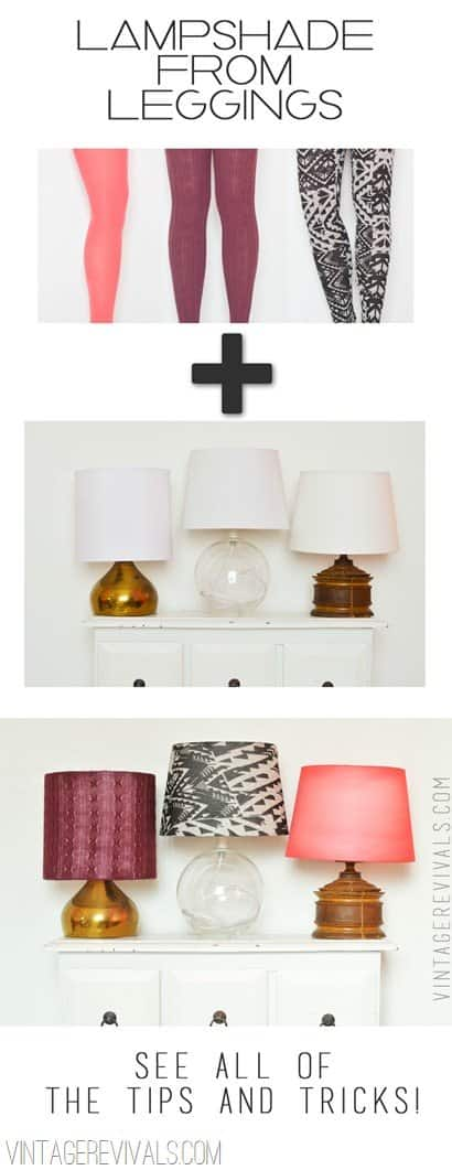 Upcycled Old Leggings Into Beautiful Lampshades