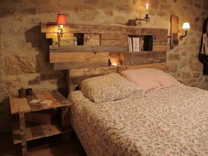 Lightning Headboard Made From Repurposed Pallets