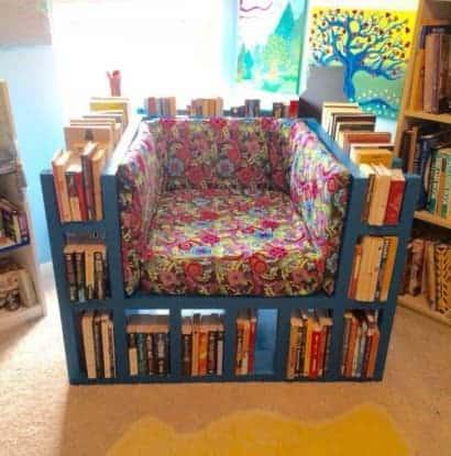 Beautiful Bookshelf Chair by Darko Kavazovic