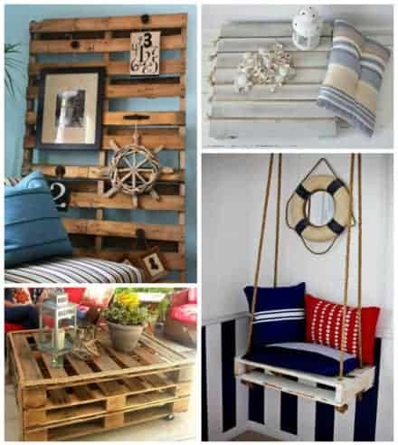 Coastal Country Decor Ideas Using Upcycled Pallets