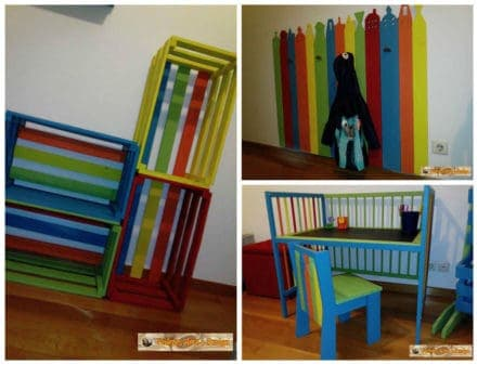 Children's Room Decoration With Recycled Pallets