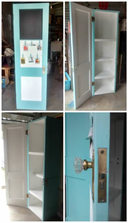 Cabinet Made Out Of Two Vintage Doors