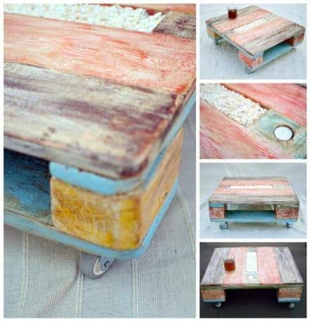 Colorful Pallet Coffee Table