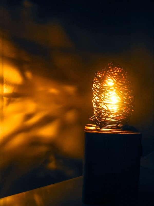 Industrial Wood & Metal Wire Lamp Lamps & Lights