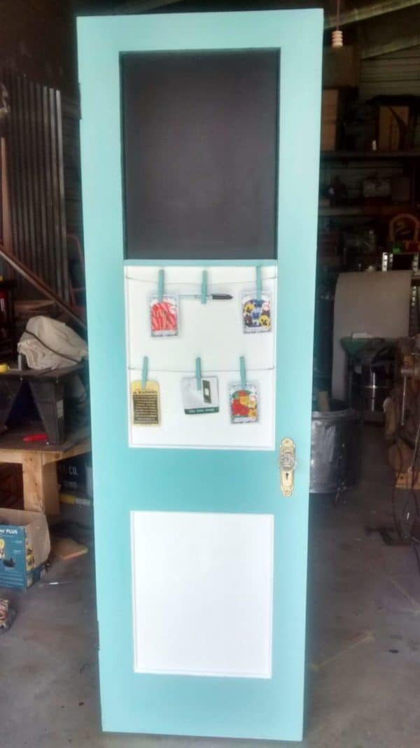 Cabinet Made Out Of Two Vintage Doors Recycled Furniture