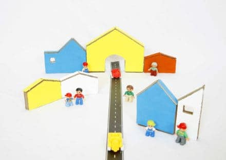 Kids Cardboard Town