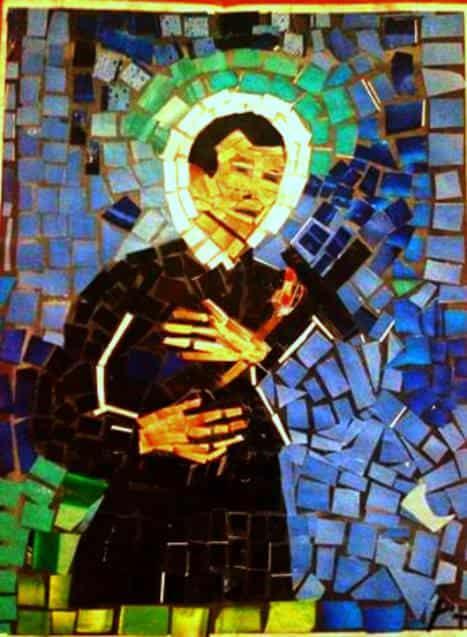 St. Gerard Majella Magazine Collage Art Recycled Art