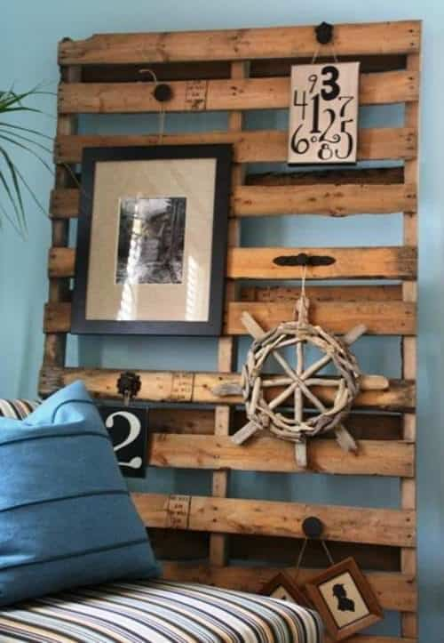 Coastal country decor ideas using upcycled pallets recycled ideas recyclart - Panneau decoration murale ...
