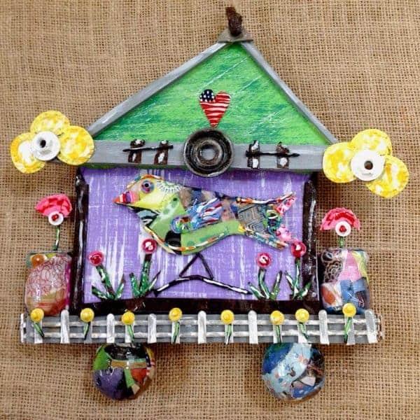 Environmental Folk Art Recycled Art