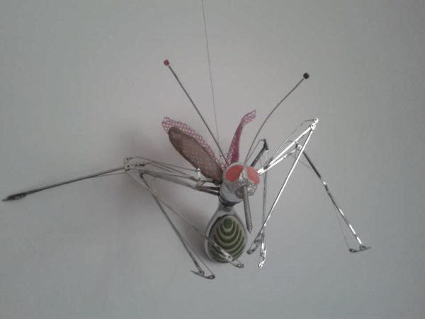 Charlie The Fly: Made From Discarded Materials Recycled Art