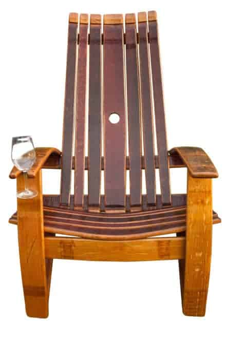 Oak Wine Barrel Adirondack Chair