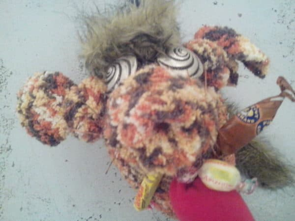 Halloween Monster Made From An Old Sweater & A Repurposed Tin Can Accessories Clothing