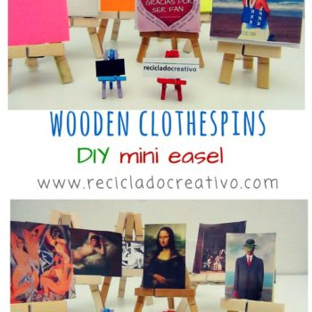 A Mini Easel From Clothespins