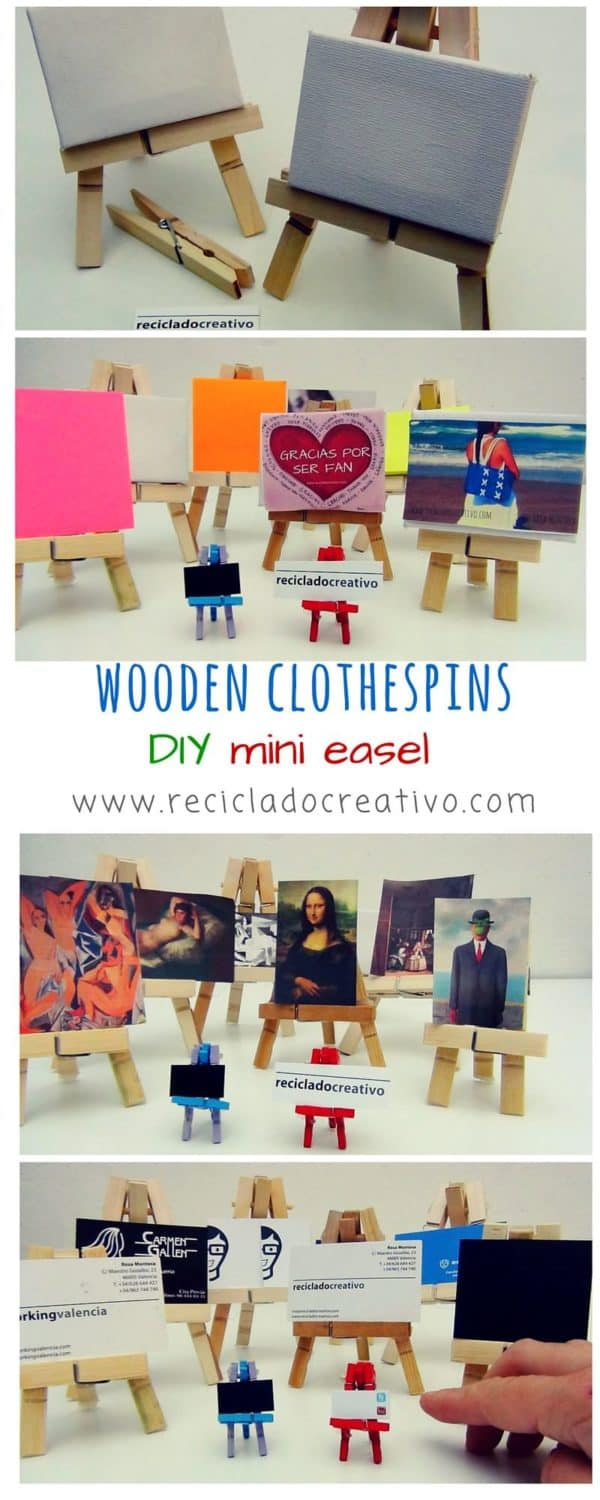 A Mini Easel From Clothespins Do-It-Yourself Ideas Wood & Organic