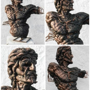 'Adam' Recycled Tires Sculpture