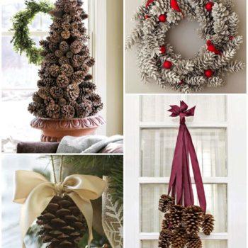 DIY Christmas Décor Ideas Using Pine Cones