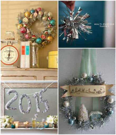 Reuse & Recycle Vintage Christmas Garlands