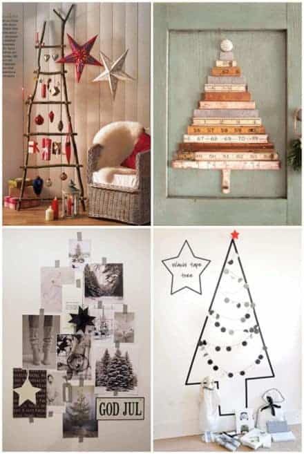 Alternative & Easy Wall Christmas Tree Ideas