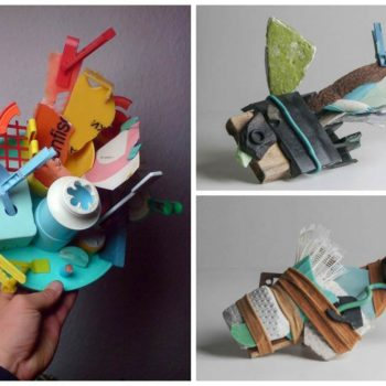 Abstract Assemblages Made From Flotsam & Found Objects
