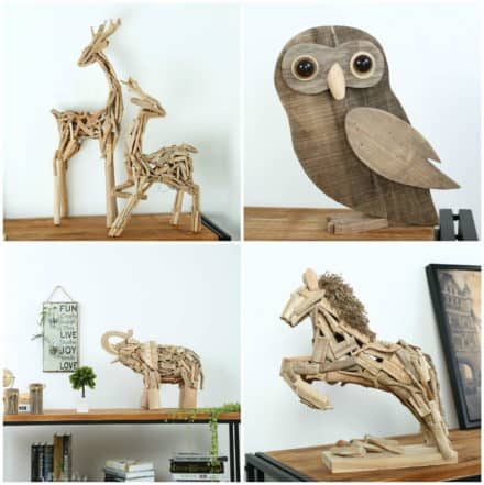 Vintage Wooden Animal Decorations