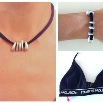 Reciclando Un Bikini (Pulsera y Collar) / Necklace & Bracelet From Upcycled Bikini