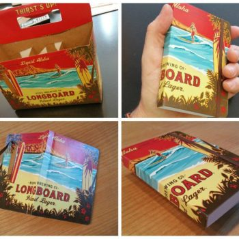 Hang Loose Cell Book From Repurposed Beers Packaging
