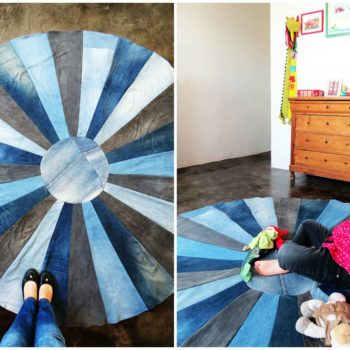 How To Make A Rug With Old Denim