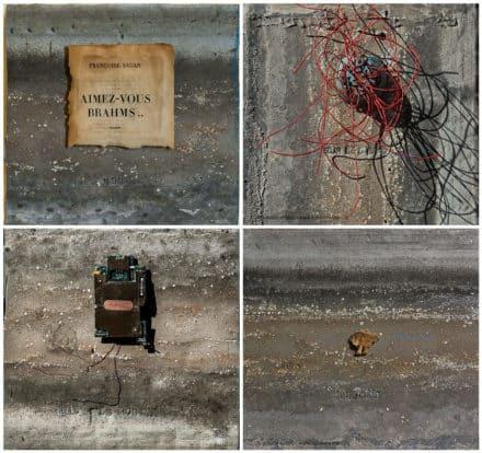 Sur Le Zinc / Upcycled Zinc Gutter Art