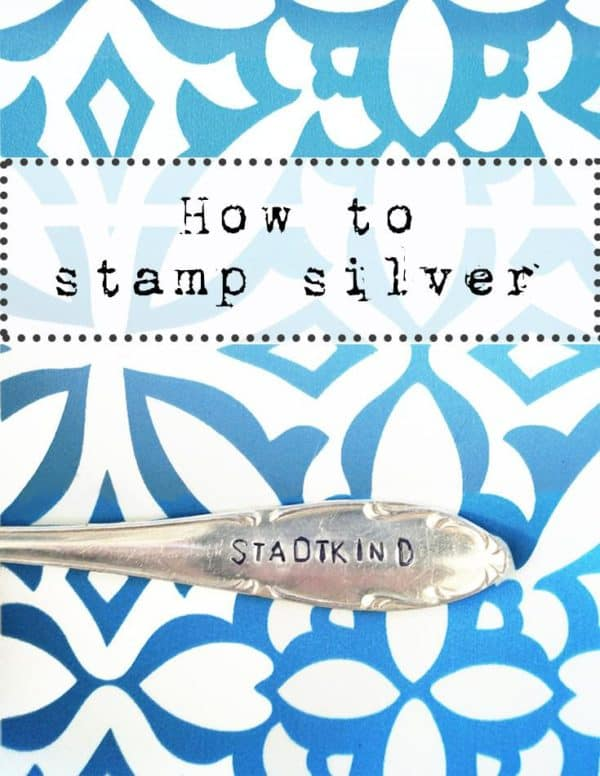 How To: Stamping Silver Upcycled Jewelry Ideas