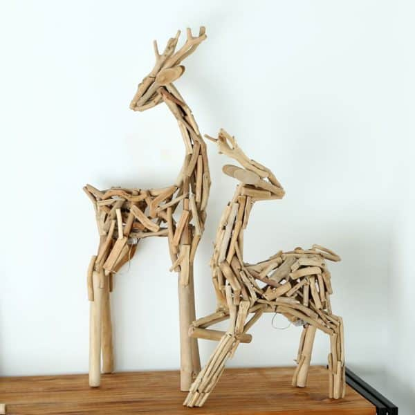 Vintage Wooden Animal Decorations Recycled Art Wood & Organic