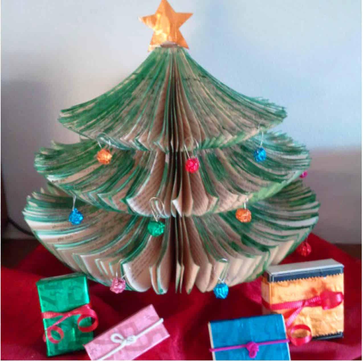 Upcycled Book Christmas Tree