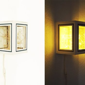 Lamp Made Out Of Picture Frames