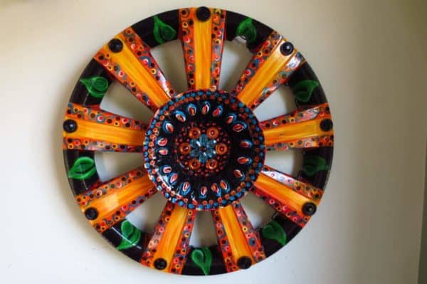 Amazing Recycled Arts From Tires, Hubcaps & Rims Mechanic & Friends Recycled Art Recycled Rubber