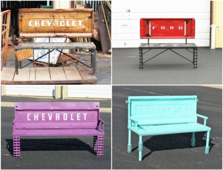 Upcycled Auto & Truck Parts Into Tailgate Benches