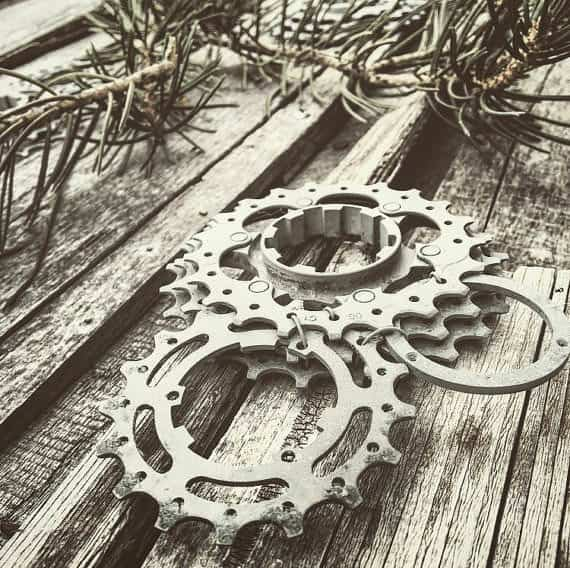 Upcycled Bike Gear Into Ornaments Bike & Friends
