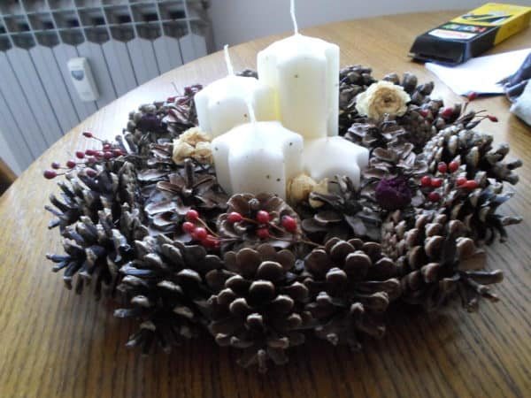 Advenski Vjencic / Advent wreath Do-It-Yourself Ideas Wood & Organic
