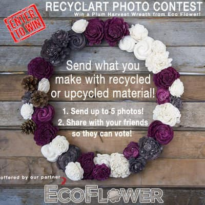 Recyclart Contest: Win A Wreath By Eco Flower Do-It-Yourself Ideas